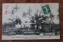 ANNAM (VIET NAM / INDOCHINE) - QUANG NGAI - RECONSTRUCTION DU POSTE DES DOUANES DETRUIT PAR LES PIRATES - Vietnam