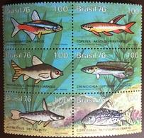 Brazil 1976 Fish MNH - Fische