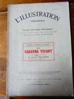 LE CADAVRE VIVANT,de Léon Tolstoï,dont Masque Moulé (orig :L'ILLUSTRATION  THÉÂTRALE 1911) Dos Illustré Par MICHELIN - Theatre