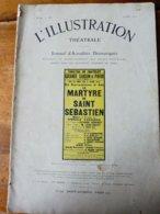 LE MARTYRE DE SAINT SÉBASTIEN , De Gabriele D'Annunzio (orig :L'ILLUSTRATION  THÉÂTRALE 1911) Dos Illustré Par MICHELIN - Theatre