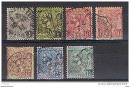 MONACO:  1891/92  ALBERTO  I° -  7  VAL. US. -  YV/TELL. 11//44 - Monaco