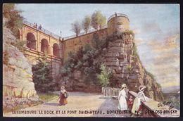 LUXEMBOURG - Le Bock Et Le Pont Du Château - édit. Werré - Mertens --- DEUTSCHE PRIMUS POSTKARTE - Luxembourg - Ville