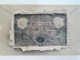 Carte Postale Billet De Cent Francs, Cachet De 1902, « 17 » - Monete (rappresentazioni)