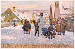 Illustrateur - N°68282 - Paul Hey N°297 - Enfants Autour D'un Bonhomme De Neige - Hey, Paul