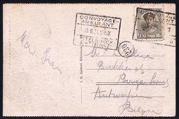 LUXEMBOURG AMBULANT - 2 X  CONVOYAGE AMBULANT 13.8.24 ETTELBRÜCK ECHTERNACH > ANVERS - 1921-27 Charlotte Frontansicht