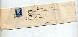Lettre Cachet Losange Caen Sur Napoleon - 1849-1876: Classic Period