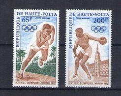 Haute Volta. Poste Aérienne. Jeux Olympiques De Munich. Sprint Et Lancer Du Disque - Obervolta (1958-1984)