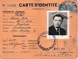 1955 WATTRELOS - CARTE D'IDENTITE Pour Henri POLLET - Cachets Du Commissariat De Police - Documents Historiques