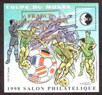 1998 - Feuillet CNEP N° 27 (surchargé Or) - Neuf ** - Salon Philatélique De Lyon - Coupe Du Monde De Football - CNEP