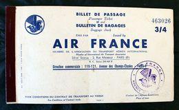 Billet Avion Air France Ambilobe Nossi-Bé  Chauvicourt 1953 - Billets D'embarquement D'avion