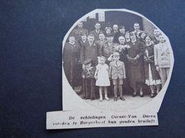 """Origineel Knipsel ( 4720 ) Uit Tijdschrift """" Zondagsvriend """"  1936 :  Cornet - Van Doren  Borgerhout - Vieux Papiers"""