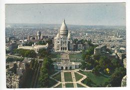 PARIS .- 331.- Vue Aerienne. Basilique Du Sacré Coeur De Montmartre - Sacré Coeur