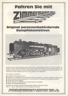 Catalogue ZIMMERMANN 1986 Original Personenbefördernde Dampflokomotiven 2° - Allemand