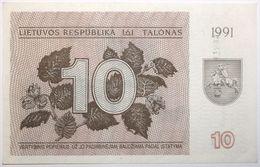 Lituanie - 10 Talonas - 1991 - PICK 35b - NEUF - Litauen