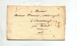 Lettre Cachet  Lille 2 Decimes - 1801-1848: Precursors XIX