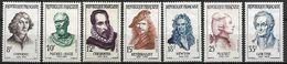 FRANCE   -   1957  .  Y&T N° 1132  à  1138 ** .  Série Complète.   Célébrités étrangères. - France