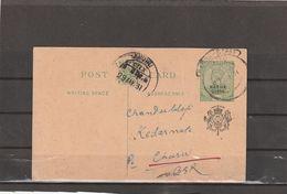 India NABHA STATE POSTAL CARD 1931 - India (...-1947)