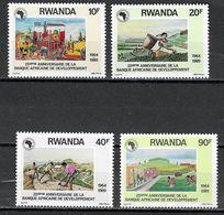 RWANDA Nº  1297 AL 1300 - Rwanda