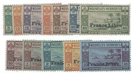 Nouvelles Hébrides : N°124/135 (n°134, 135**) - New Hebrides