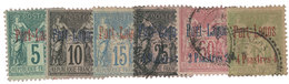 Port-Lagos : N°1/6*/obl. - Port Lagos (1893-1931)