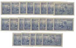 Colonies : Grande Série Coloniale Marie Curie 1938, 21 Valeurs Neufs* - France (ex-colonies & Protectorats)