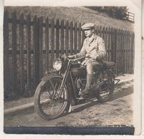 Homme Sur Moto - Photo 6 X 6 Cm - Radsport
