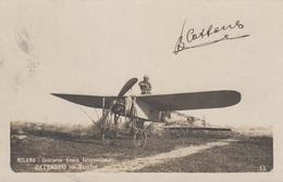 Aviazione - Riunioni - Milano 1910  - Cattaneo Su Bleriot  - F. Piccolo - Bella Animata - Meetings