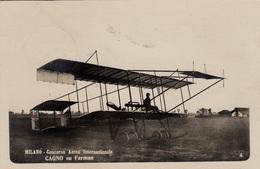 Aviazione - Riunioni - Milano 1910  - Cagno Su Farman - F. Piccolo - Bella Animata - Meetings