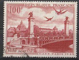 Timbre France Poste Aerienne Aviation Avion Plane N° Yvert PA 28 De 1949 Oblitéré - 1927-1959 Afgestempeld