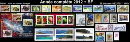 POLYNESIE Année Complète 2012 + BF (NEUF ** MNH) : Yv. 978 à 1012 Dont 2 Carnets + BF 38  (38 Tp)  ..Réf.POL25080 - Polynésie Française
