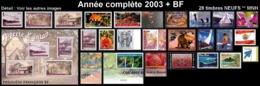 POLYNESIE Année Complète 2003 + BF (NEUF ** MNH) : Yv. 682 à 704A + BF 29  (28 Tp)  ..Réf.POL25071 - Polynésie Française
