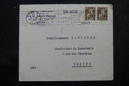 ALGÉRIE - Enveloppe Commerciale De Oran Pour La France En 1957 , Affranchissement Plaisant - L 64184 - Covers & Documents