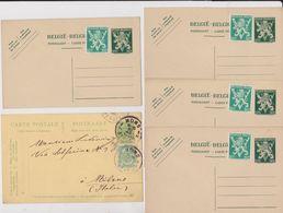 Belgique, 5 Entier Postal. - Stamped Stationery