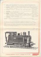 Catalogue ZIMMERMANN 1980s 5'' Spur Dampflokomotive BR 99 211 - Allemand