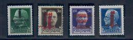 REPUBBLICA SOCIALE  RSI - 1944 - VARIETA'  SERIE IMPERIALE CON DOPPIA SOPRASTAMPA  -SASS. 491b 492b 493b 495b - NUOVI * - 4. 1944-45 Social Republic