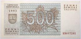 Lituanie - 500 Talonas - 1993 - PICK 46 - NEUF - Litauen