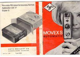 Publicité Agfa Movexs Automatic Super 8 Notice Livret - Pubblicitari