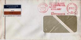 BANCO PINTO & SOTTO MAYOR , Banking  ,  Mechanical Meter , Terreiro Do Paço  Postmark ,  1973  , EMA , BankAmericard - Postmark Collection