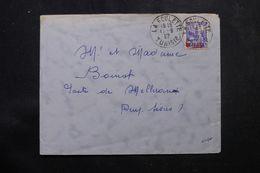 TUNISIE - Enveloppe De La Goulette  Pour La France En 1937 , Affranchissement Plaisant - L 64196 - Covers & Documents