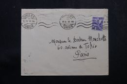 TUNISIE - Enveloppe De Tunis Pour La France En 1938, Affranchissement Plaisant - L 64200 - Covers & Documents