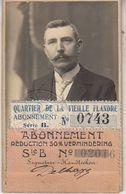 Expo Gand 1913 - Abonnement Mr Désiré Delhaye - Tickets - Entradas