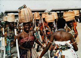 Ghana   Hogbetsotso A Festival Ansopeople Celebrating Escape From Notse     Femmes Paniers Osier Danse - Ghana - Gold Coast