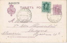 36790. Entero Postal PORT BOU Estacion (Gerona) 1925. Variedad Nº 57Fe - Enteros Postales