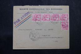 TUNISIE - Enveloppe Commerciale De Tunis Pour Madagascar En 1946  Affranchissement Plaisant - L 64204 - Covers & Documents