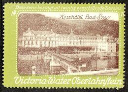 """Oberlahnstein Lahnstein 1913 """" Victoria Wasser Bild Kurhotel Bad Ems """" Vignette Cinderella Reklamemarke - Erinofilia"""