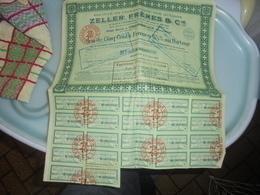 Titre Aux Porteurs ZELLER  Frères Oberbruck Haut Rhin - Acciones & Títulos