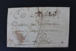 1803,LAC LYON MARQUE LINEAIRE PARTIELLE POUR PARIS DATEE DU 02/07/1803 CAD ROUGE ARRIVEE DU05/05/1803 TAXE MANUSCRITE. - 1801-1848: Vorläufer XIX