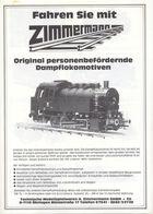 Catalogue ZIMMERMANN 1985 Personenbefördernde Dampflokomotiven Spur 5'' Live Steam - Allemand