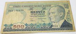 Billete Turquía. 500 Liras. 1984. Original. Buena Conservación. - Turchia
