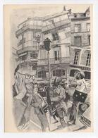 - CPM DIJON (21) - L'artiste Sur La Place - Aquarelle De Douglas Gorsline N° 1 - Atelier La Licorne Bleue - - Dijon